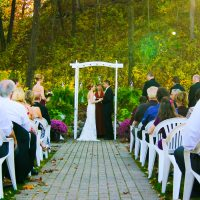 Outside weddings at Drugan's in Holmen, WI